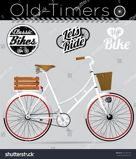 Sticker Vintage Bike by Vintage Bicycle Stickers Matures Hairy