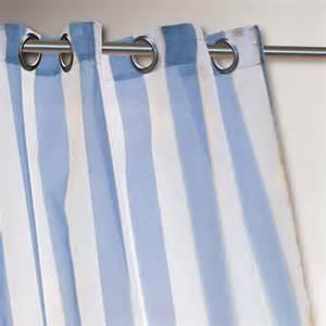 Blue Striped Curtains Blue Striped Escape Grommet Top Curtain World Market