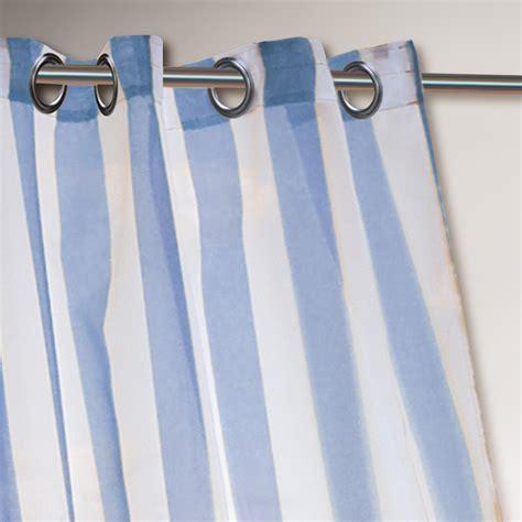 striped grommet curtains blue striped escape grommet top curtain world market