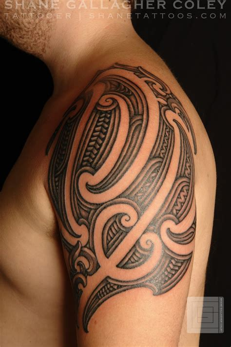 shane tattoos maori shoulder tattoo ta moko