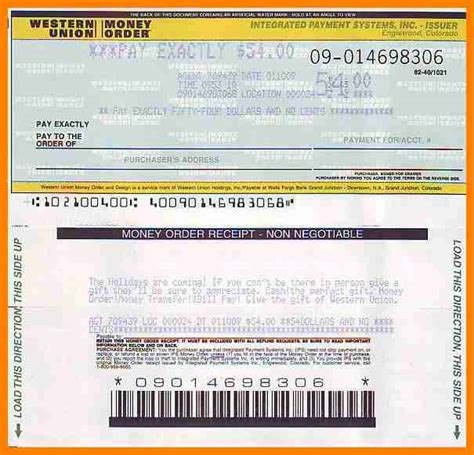 7 fake money order template grocery clerk