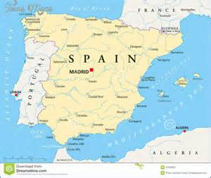Spain On Map by Spain Map Map Travel Holiday Vacations