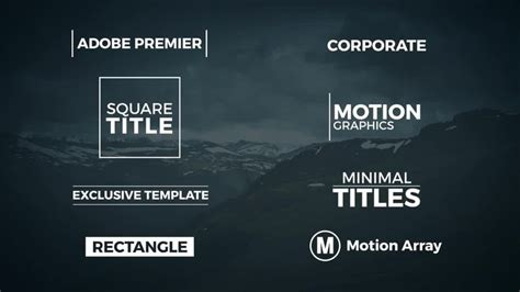 8 Minimal Titles Premiere Pro Templates Motion Array Premiere Pro Animation Templates