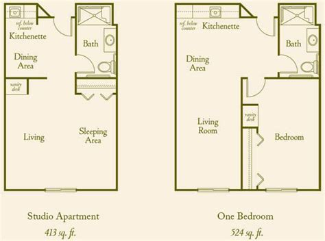 senior housing floor plans floor plans assisted living in california mission