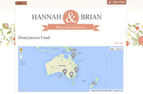 Wedding Gift List Website by Personalised Wedding Websites Gift Lists From Zankyou