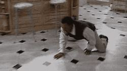 carlton sliding across floor gif carlton gif find on giphy