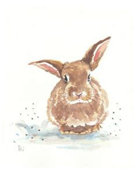 watercolor rabbit tutorial rabbit watercolor original painting bunny illustration