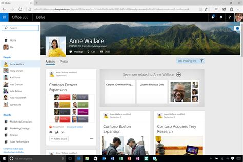 Office 365 Delve Office 2016 Review Microsoft Makes Mobile Cloud