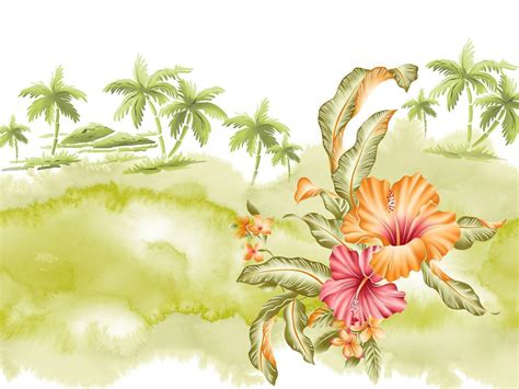 Hawaiian Flowers Wallpapers Wallpaper Cave Hawaiian Flower Backgrounds