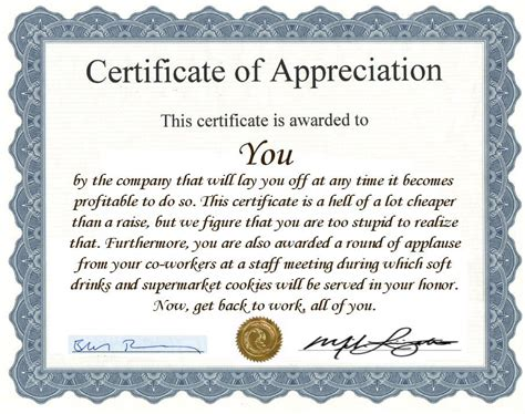 employee appreciation certificate templates employee appreciation award certificate