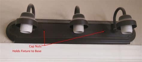 cap nuts for light fixtures fix bathroom vanity light fixture homediygeek