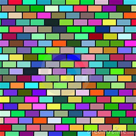 multi colored walls background from multi coloured brick wall royalty free