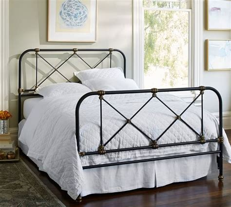 pottery barn metal bed atticus iron bed pottery barn