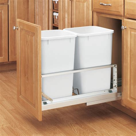 Kitchen Cabinet Waste Bins Rev A Shelf Premiere Quot Bin Pull Out Waste Containers 2 X 27 Quart 2 X 6 75 Gallon 2