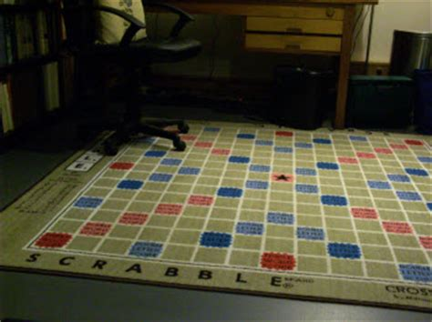 Scrabble Rug by Darryl Francis And The Of Collins Scrabble Dictionary