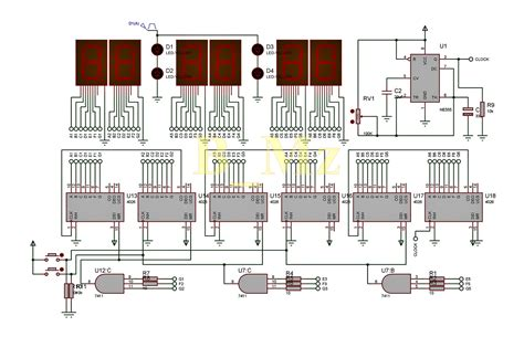 membuat jam digital ic 4026 membuat jam digital 7 segment tanpa program