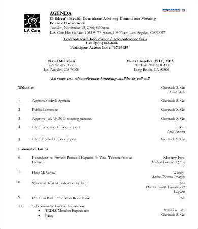 sle templates for an agenda investment committee minutes template 28 images sle