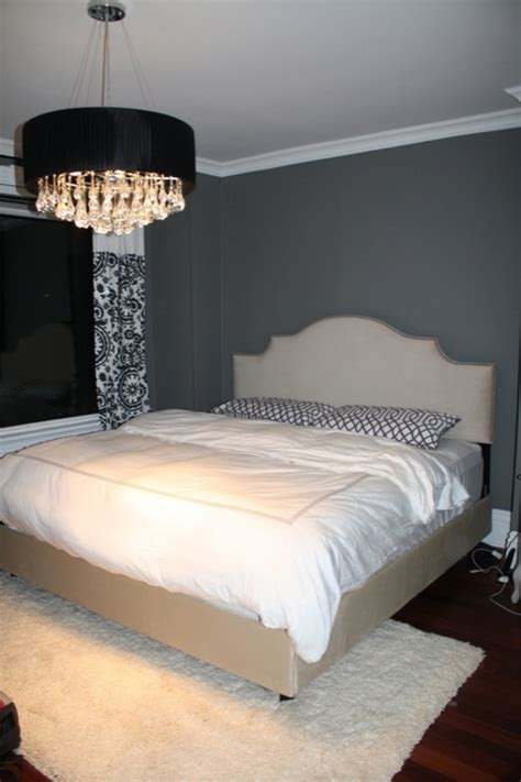 charcoal gray paint color contemporary bedroom