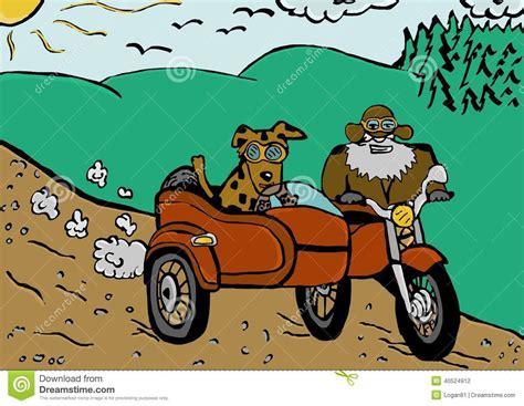 Motorrad Mit Beiwagen Zeichnung by Reise Durch Beiwagen Stock Abbildung Illustration Von