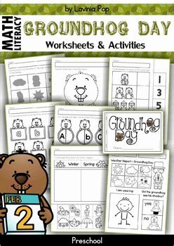 groundhog day viewing worksheet groundhog day preschool no prep worksheets activities by