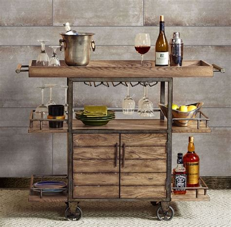 rustic kitchen islands and carts 2018 rustic bar cart portable serving tray wine beverage drink tea trolley industrial acebbaecefbf