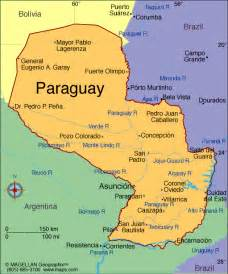 paraguay map south america map of paraguay with capital south america