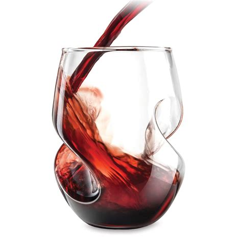 wine glasses aerating stemless wine glasses the green head