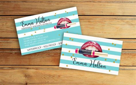 Lipsense Business Card Template Free by Lipsense Business Cards Senegence International By