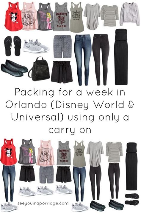packing   week  orlando disney world universal