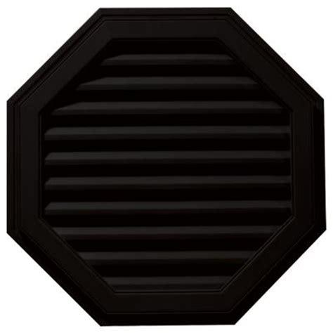 builders edge 32 in octagon gable vent in black
