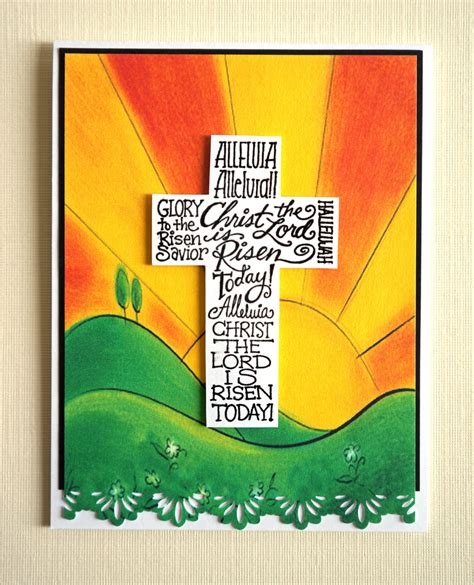 Handmade Christian Cards - handmade easter card is risen religious scr 01