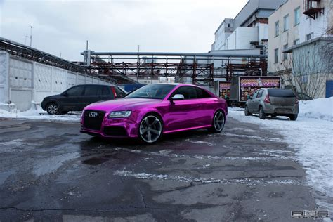 porsche purple audi overkill audi rs5 chrome purple wrap autoevolution
