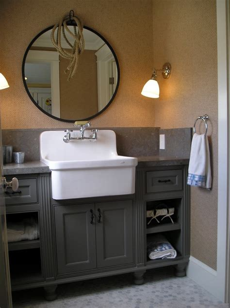farm sink bathroom vanity farmhouse sinks in the bathroom abode
