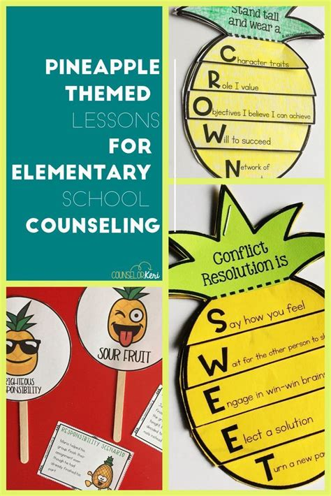 Pineapple Classroom Guidance Lesson Bundle For Elementary