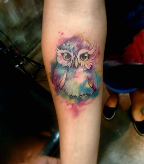 owl tattoo in color 25 cute watercolor bird tattoo designs for girls