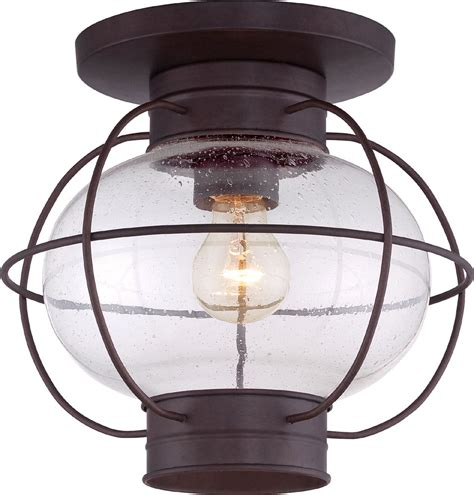 Outdoor Ceiling Lights Quoizel Cor1611cu Cooper Vintage Copper Bronze Outdoor Ceiling Light Fixture Quo Cor1611cu