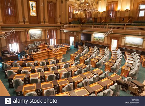 colorado state house of representatives chamber of house of representatives with balcony in colorado state stock photo