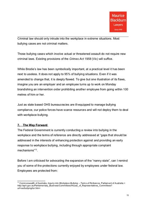 Complaint Letter Bullying In The Workplace Sle How To Write A Complaint Letter About Bullying In The Workplace Mediafoxstudio