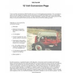 ford tractor 12 volt conversion