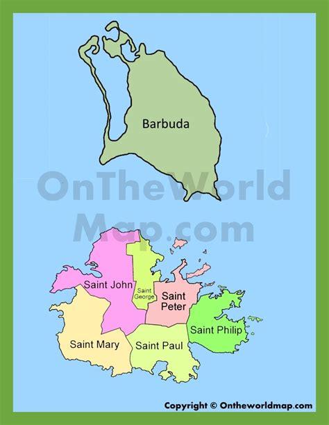 antigua and barbuda map administrative map of antigua and barbuda