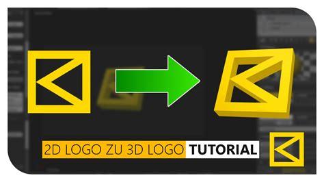 tutorial blender 3d logo blender tutorial 2d logo zu 3d logo german deutsch