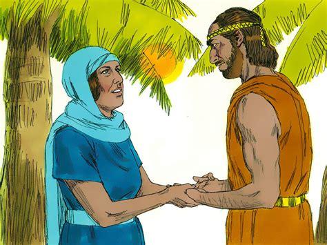 image of deborah free bible images deborah tells barak to go into battle