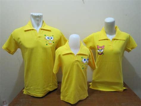 Baju Kaos Family Spongebob family polo spongebob pita a baju aiyushop