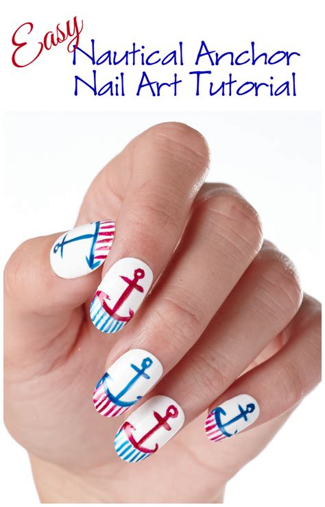 nail art tutorial ita easy nautical anchor nail art tutorial style on main