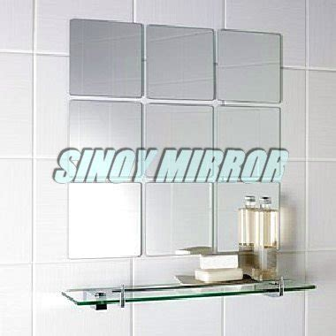Small Beveled Mirror Tiles 3mm Decorative Small Beveled Mirror Tile Wall