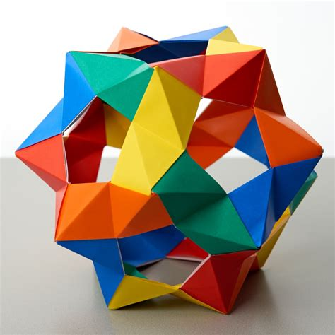 origami ferocious beings paper project for