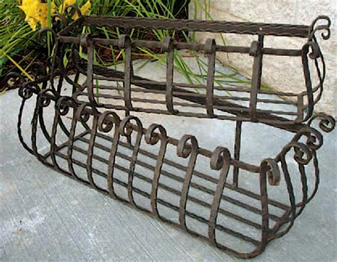 wrought iron window boxes set of 2 wrought iron large castilian window planters ebay