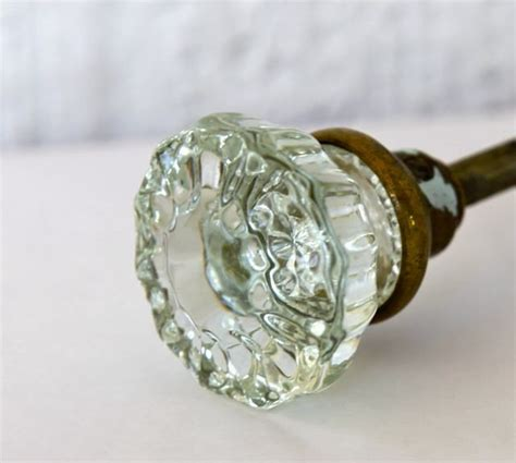 Glass Door Knobs Vintage Vintage Glass Door Knob Pair With Hardware
