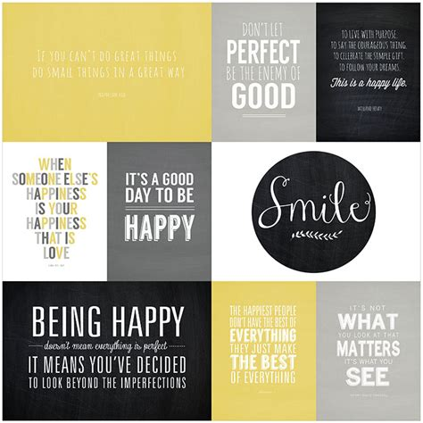 printable mini quotes favorite quotes mini album be happy collection