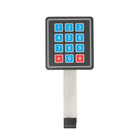 Keypad Membrane Matrix 12 matrix array 12 key membrane switch keypad keyboard for